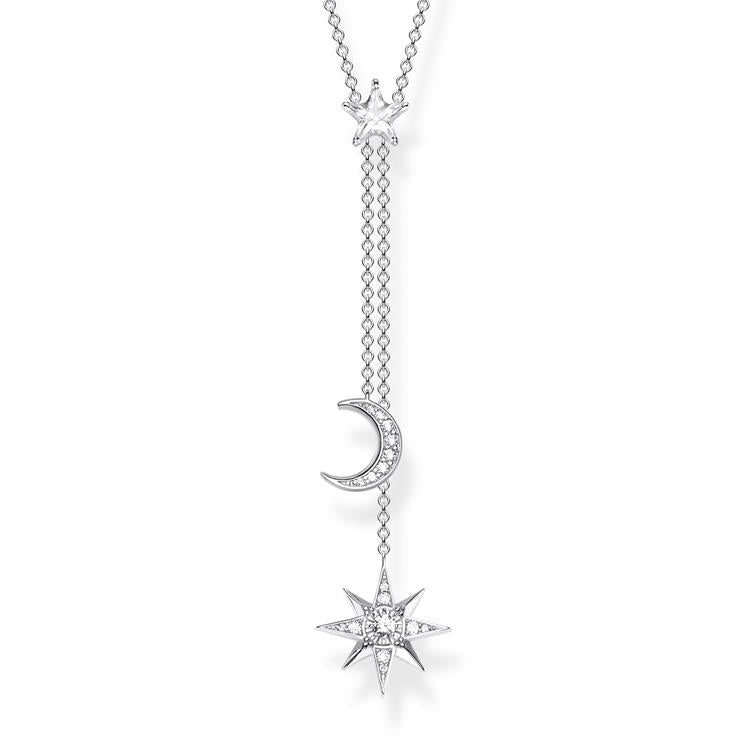 Thomas Sabo Star & Moon Sparkling Y Necklace