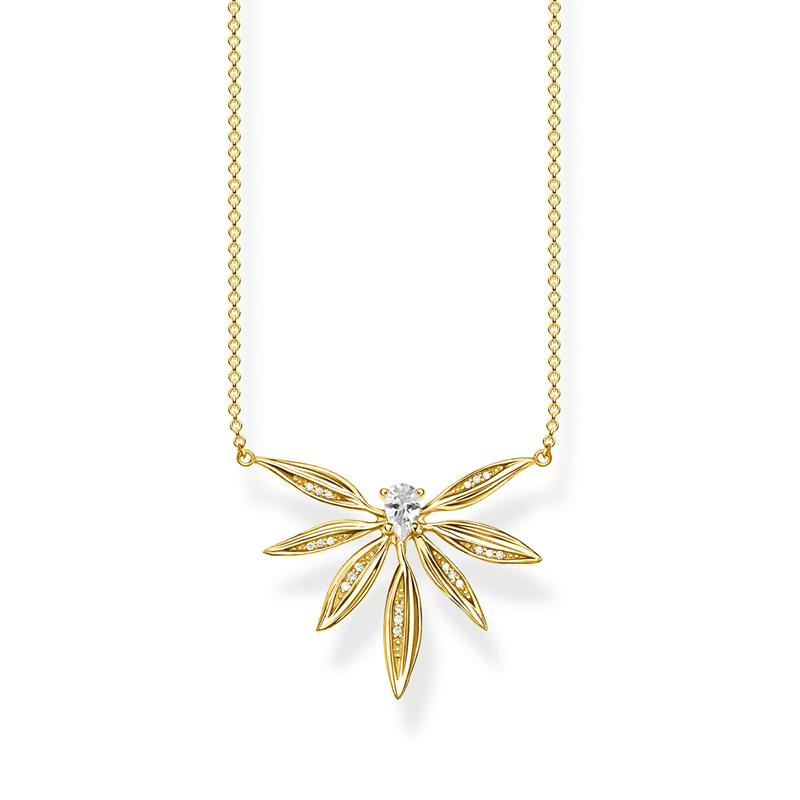 Thomas Sabo Leaves Gold Necklace KE1949-414-14