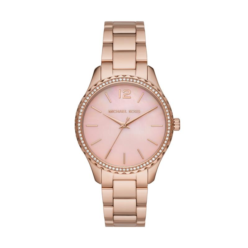 Michael Kors Layton Pavé Rose Gold Watch MK6848