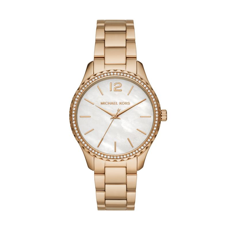 Michael Kors Layton Pavé Gold-Tone Watch MK6870