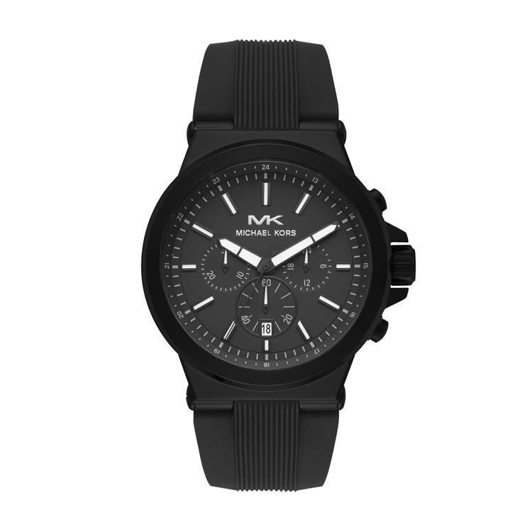 Michael Kors Dylan Black Rubber Strap Watch MK8729