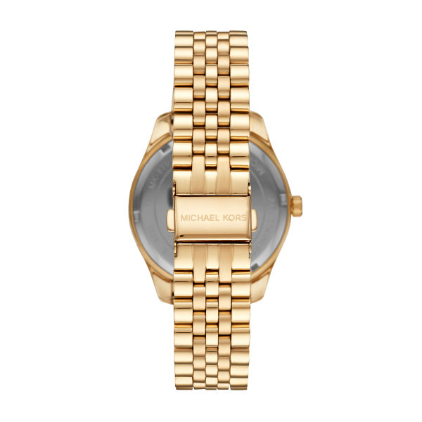 Michael Kors Lexington Black Dial Gold Watch MK8751