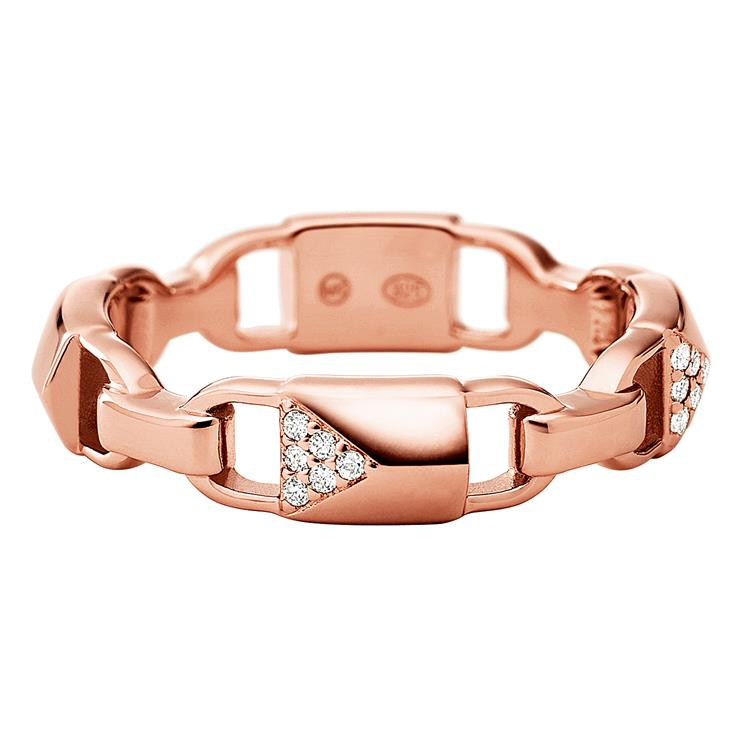 Michael Kors Rose Gold Padlock Ring MKC1024AN791