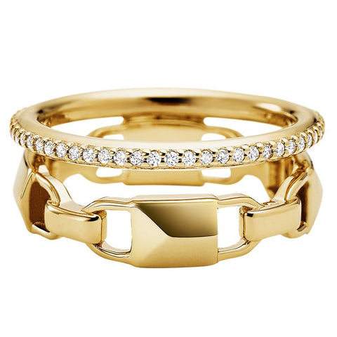 Michael Kors Gold Double Row  Ring MKC1025AN710