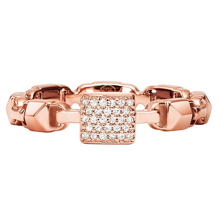 Michael Kors Mercer Link Rose Gold Plated Ring SIZE P
