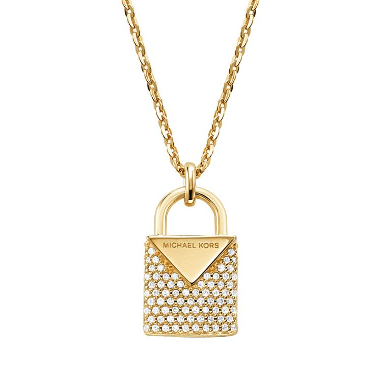 Michael Kors Gold Padlock Necklace MKC1040AN710