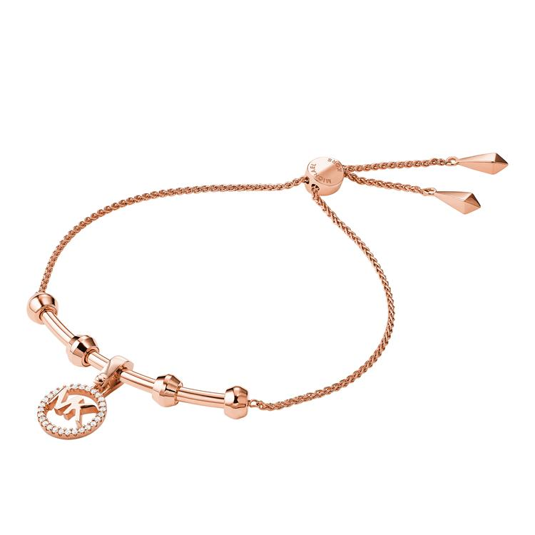 Michael Kors Rose Gold Logo Bracelet MKC1107AN791