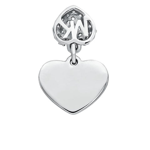 Michael Kors Silver Heart Necklace MKC1120AN040
