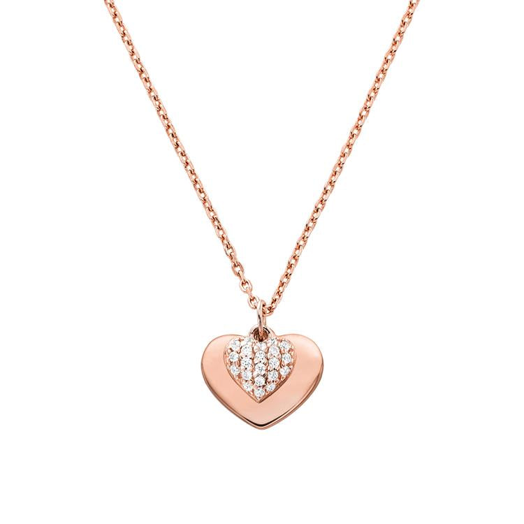 Michael Kors Rose Gold Heart Necklace MKC1120AN791