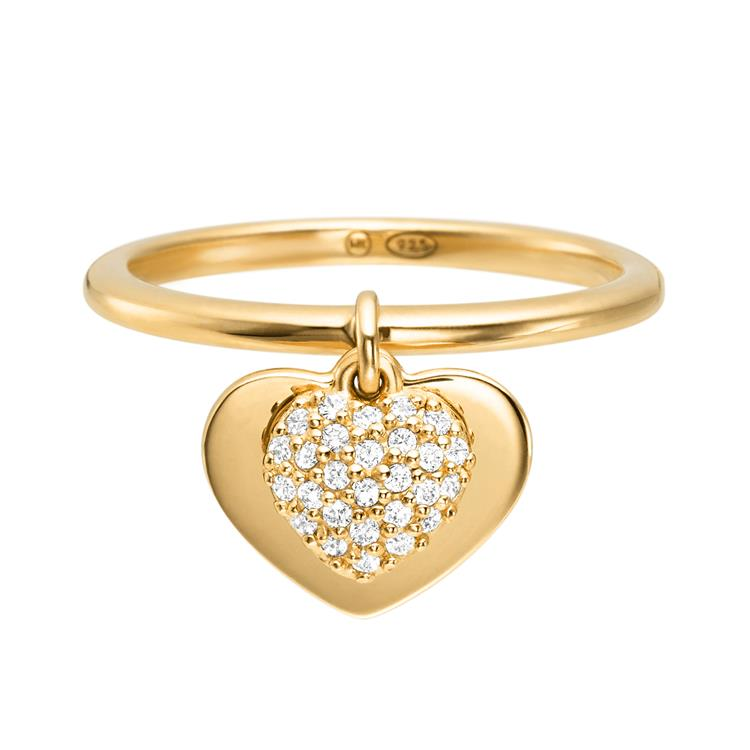Michael Kors Pave Heart Gold Plated Ring