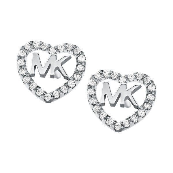 Michael Kors Logo Heart Stud Earrings MKC1243AN