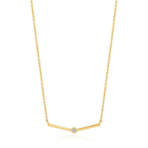 Ania Haie Shimmer Single Stud Necklace N003-02G