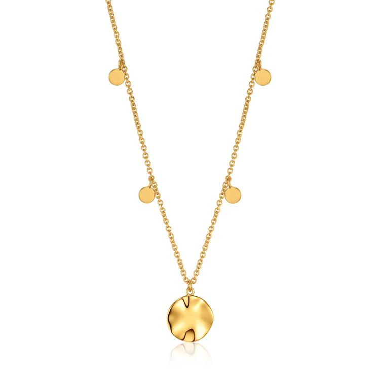 Ania Haie Ripple Drop Discs Necklace N007-04G