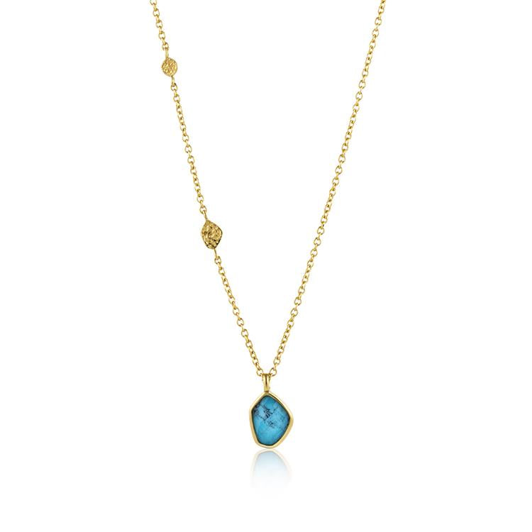 Ania Haie Turquoise Pendant Necklace N014-02G