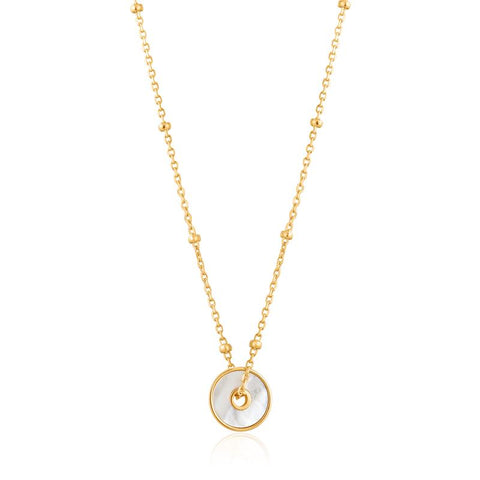 Ania Haie Mother Of Pearl Disc Necklace N022-01G