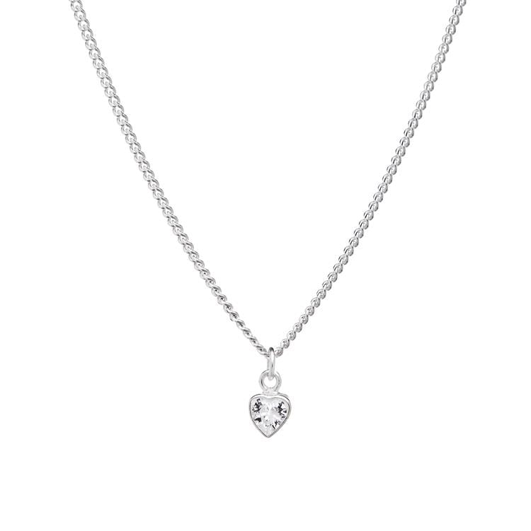 Annie Haak Tiny Crystal Heart Silver Necklace