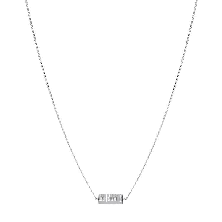 Annie Haak Keyboard Adjustable Silver Necklace