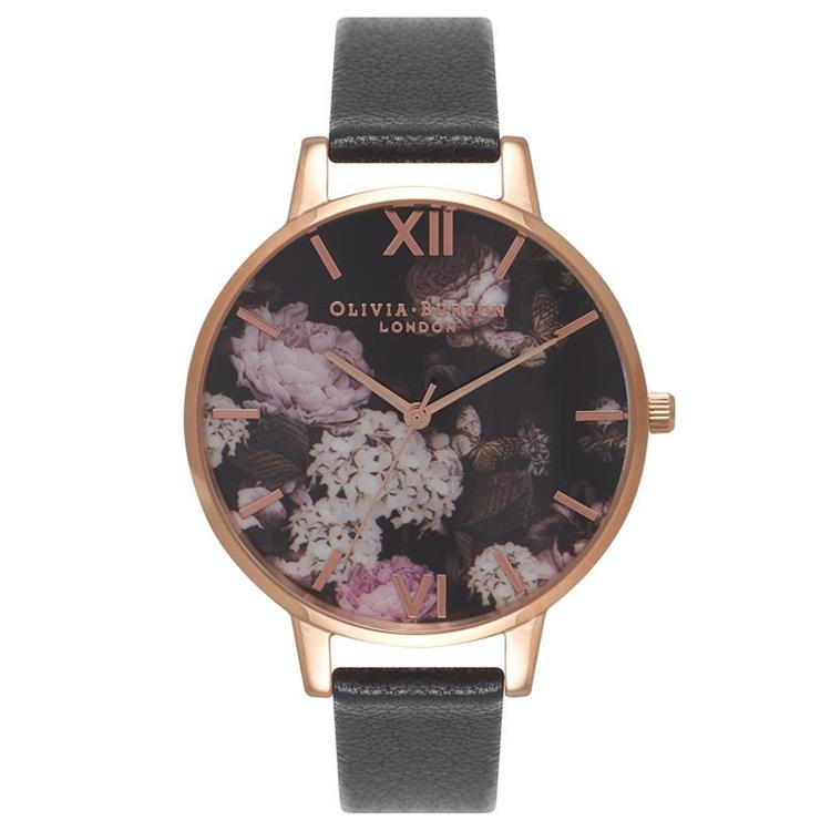 Olivia Burton Floral Black Watch OB15WG12