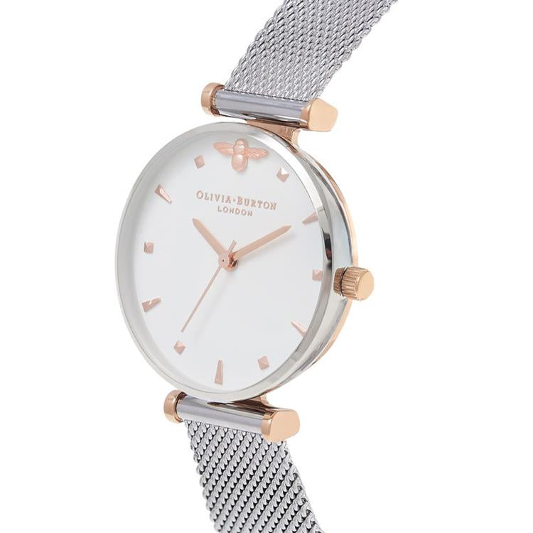 Olivia Burton Queen Bee Mesh Bracelet Watch OB16AM140