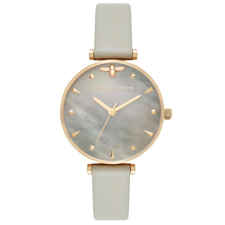 Olivia Burton Grey Mother of Pearl Watch OB16AM154