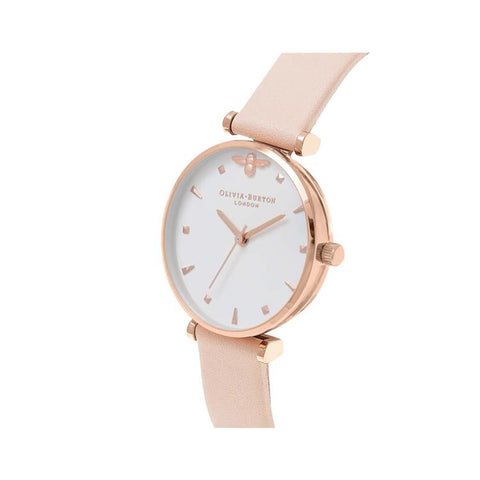 Olivia Burton Queen Bee White Dial Watch OB16AM95