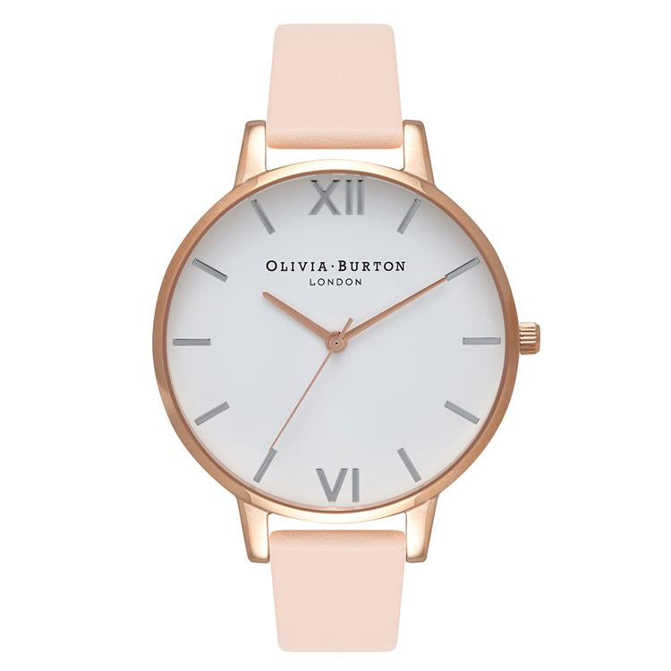 Olivia Burton Big White Dial Watch Peach OB16BDW21