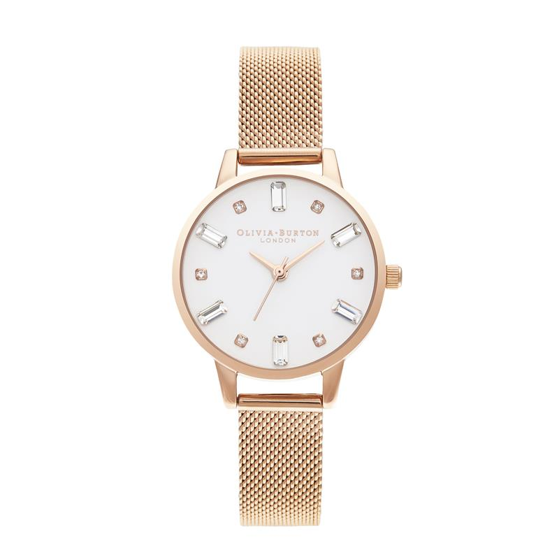 Olivia Burton Bejewelled Rose Gold Watch OB16BJ02