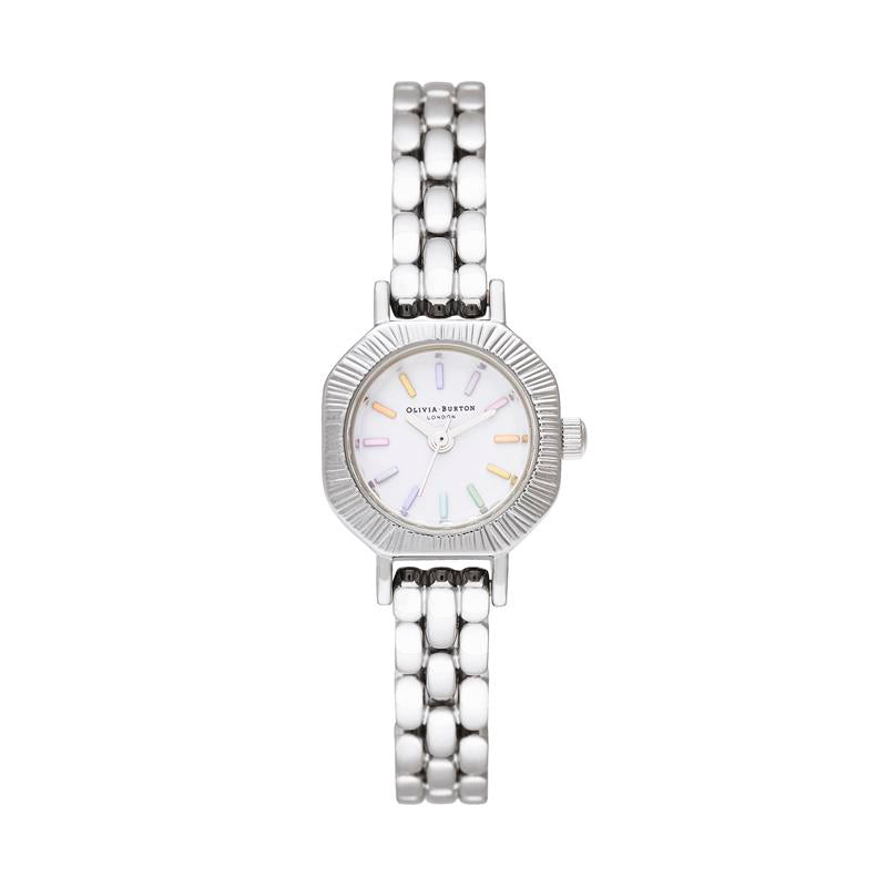 Olivia Burton Mini Dial Rainbow Steel Watch OB16CC52