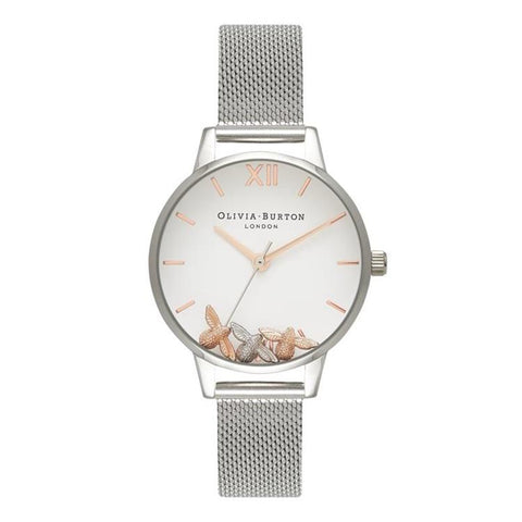 Olivia Burton Busy Bees Silver Watch OB16CH02