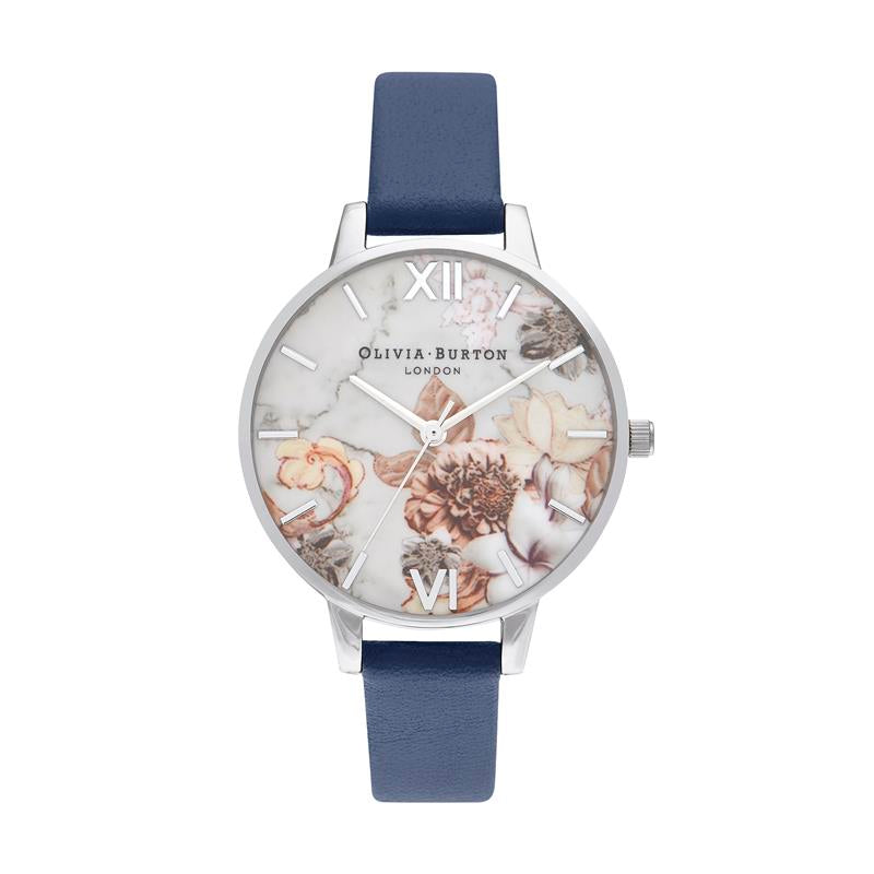 Olivia Burton Marble Florals Navy Watch OB16CS33