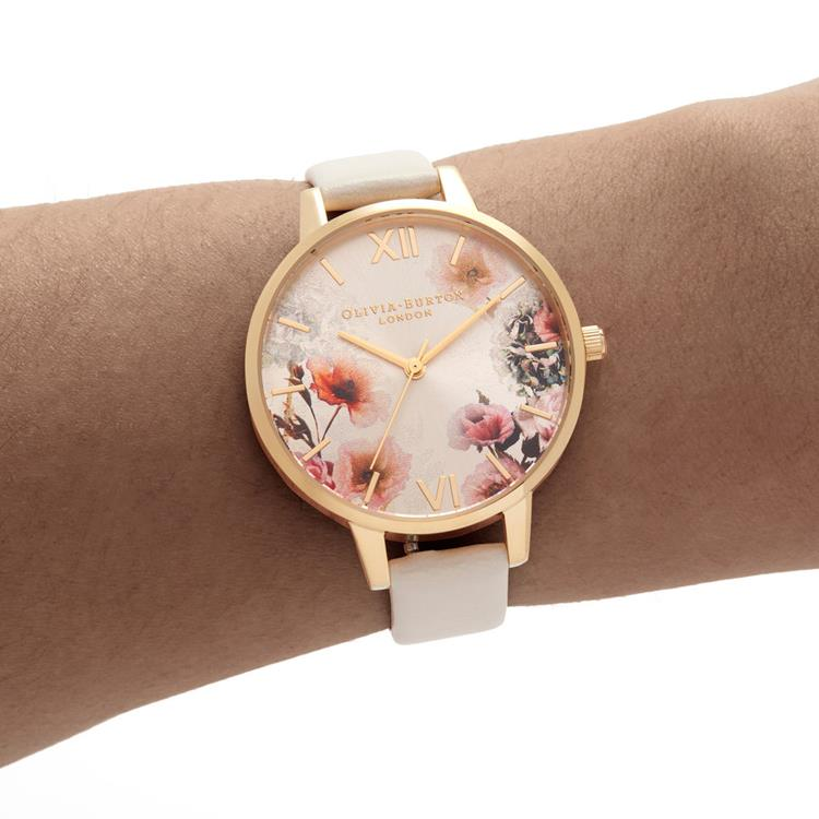 Olivia Burton Florals Vegan Gold Watch OB16EG118