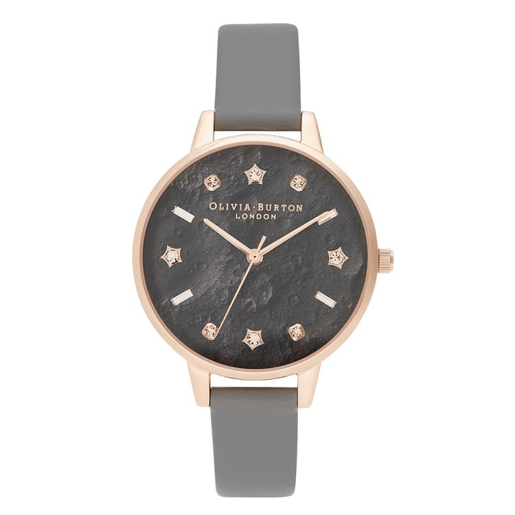 Olivia Burton Celestial Moon Grey Watch OB16GD55