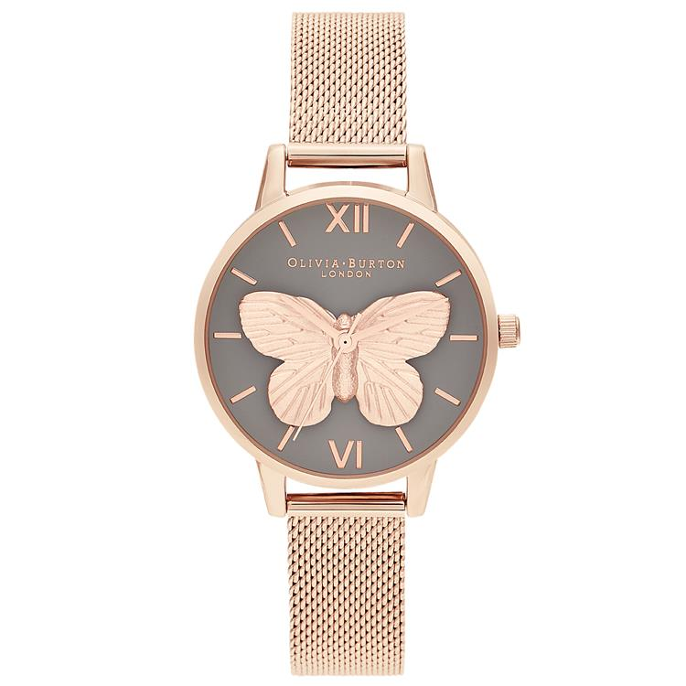 Olivia Burton 3D Butterfly Rose Gold Watch OB16MB28
