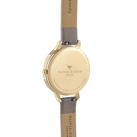 Olivia Burton Vegan Grey Nude Gold Watch OB16MV98