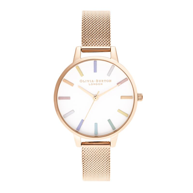Olivia Burton Rainbow Rose Gold Watch OB16RB24