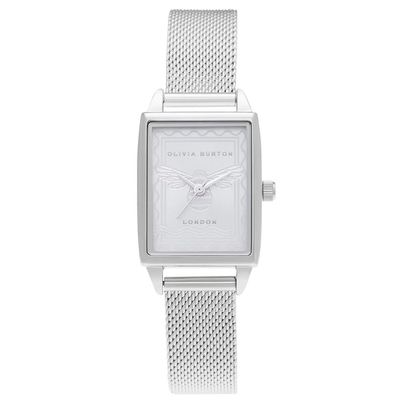 Olivia Burton London Stamp Bee Silver Watch OB16SD06