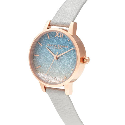 Olivia Burton Under The Sea Glitter Silver Watch OB16US26