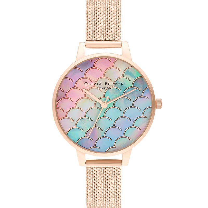Olivia Burton Mermaid Tail Rose Gold Watch OB16US45