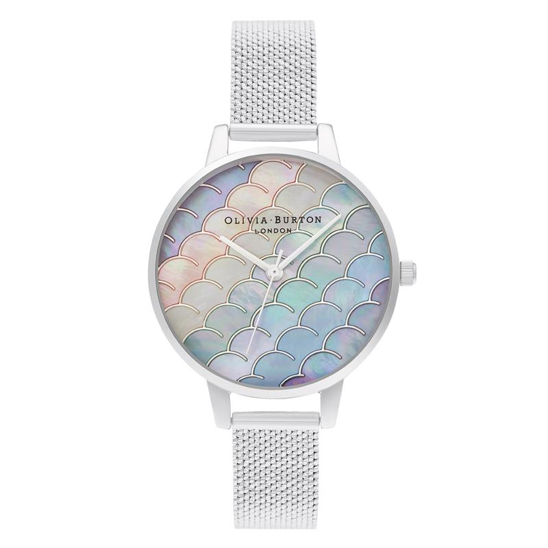 Olivia Burton Mermaid Tail Silver Watch OB16US46