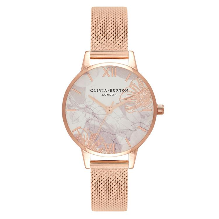 Olivia Burton Florals Rose Gold Watch OB16VM11