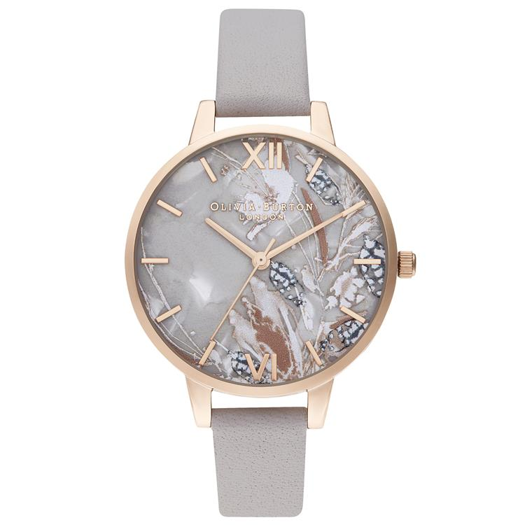 Olivia Burton Abstract Floral Watch Grey OB16VM37