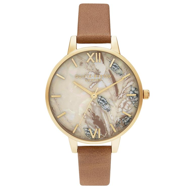 Olivia Burton Abstract Floral Watch Honey OB16VM39