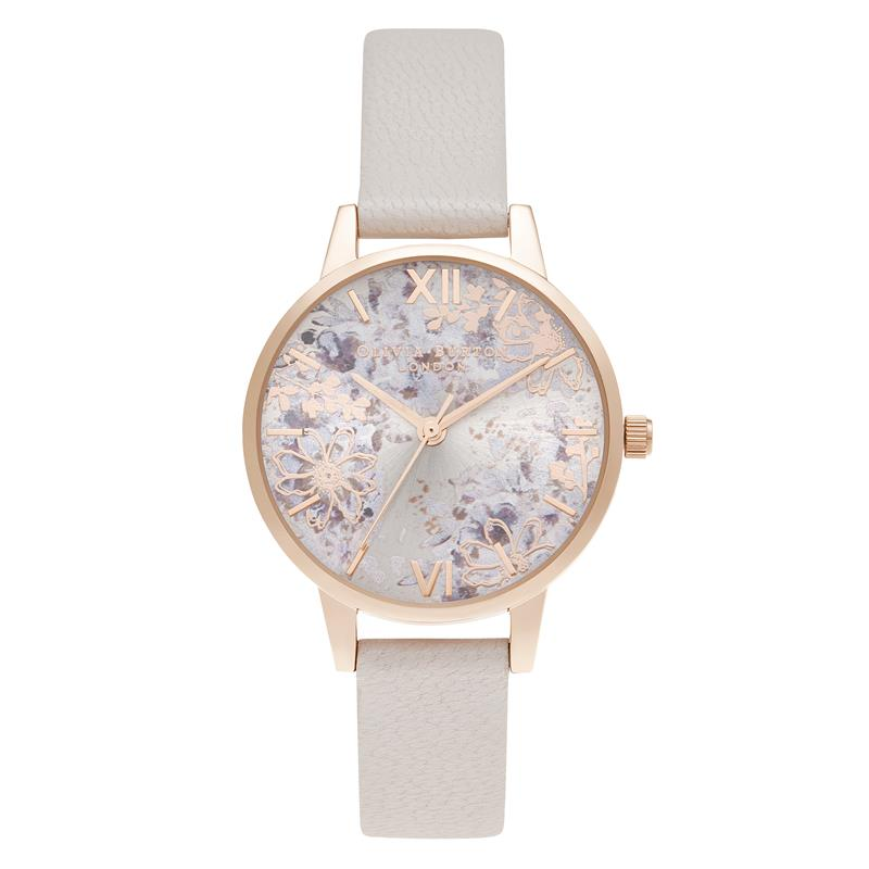 Olivia Burton Abstract Floral Pink Watch OB16VM47
