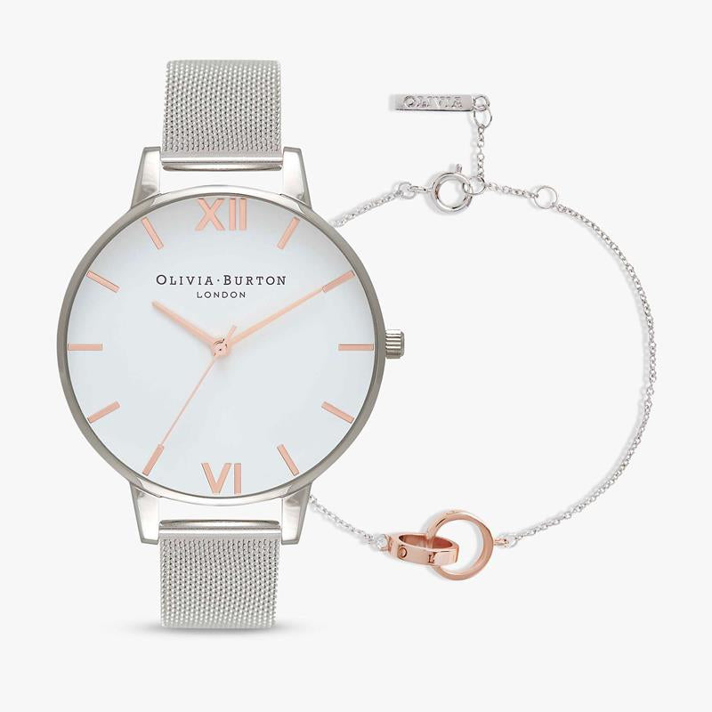 Olivia Burton Watch & Bracelet Set OBGSET53