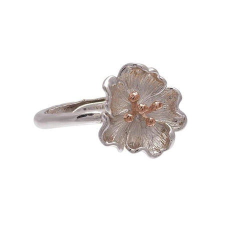 Olivia Burton Flower Poppy Ring OBJ16FSR02