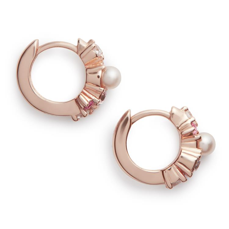 Olivia Burton Under The Sea Hoop Earrings Pink OBJSCE03