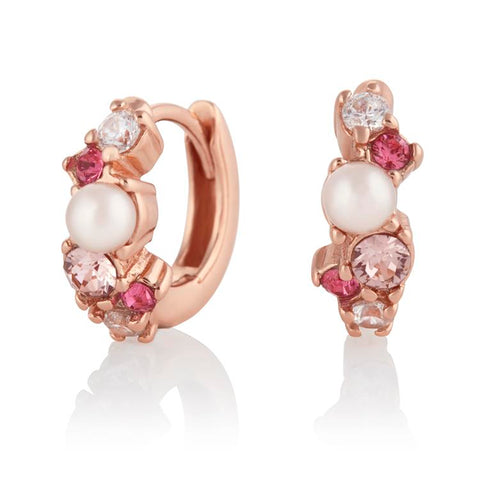 Olivia Burton Under The Sea Hoop Earrings Pink