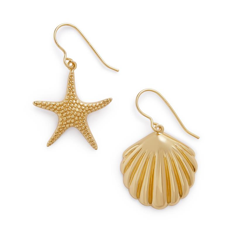 Olivia Burton Shell & Starfish Gold Earrings OBJSCE31