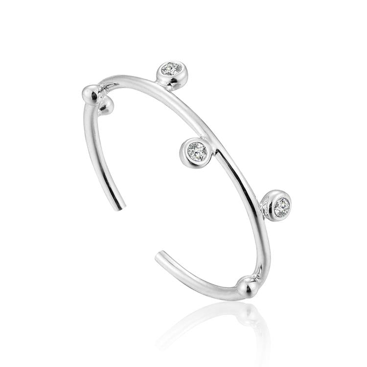 Ania Haie Shimmer Stud Adjustable Ring R003-02H