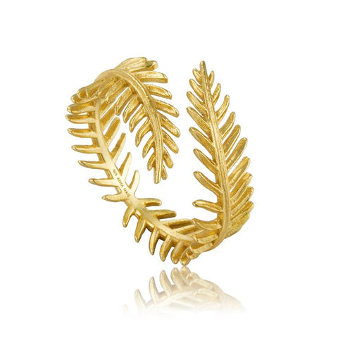 Ania Haie Palm Leaf Adjustable Ring R011-03G